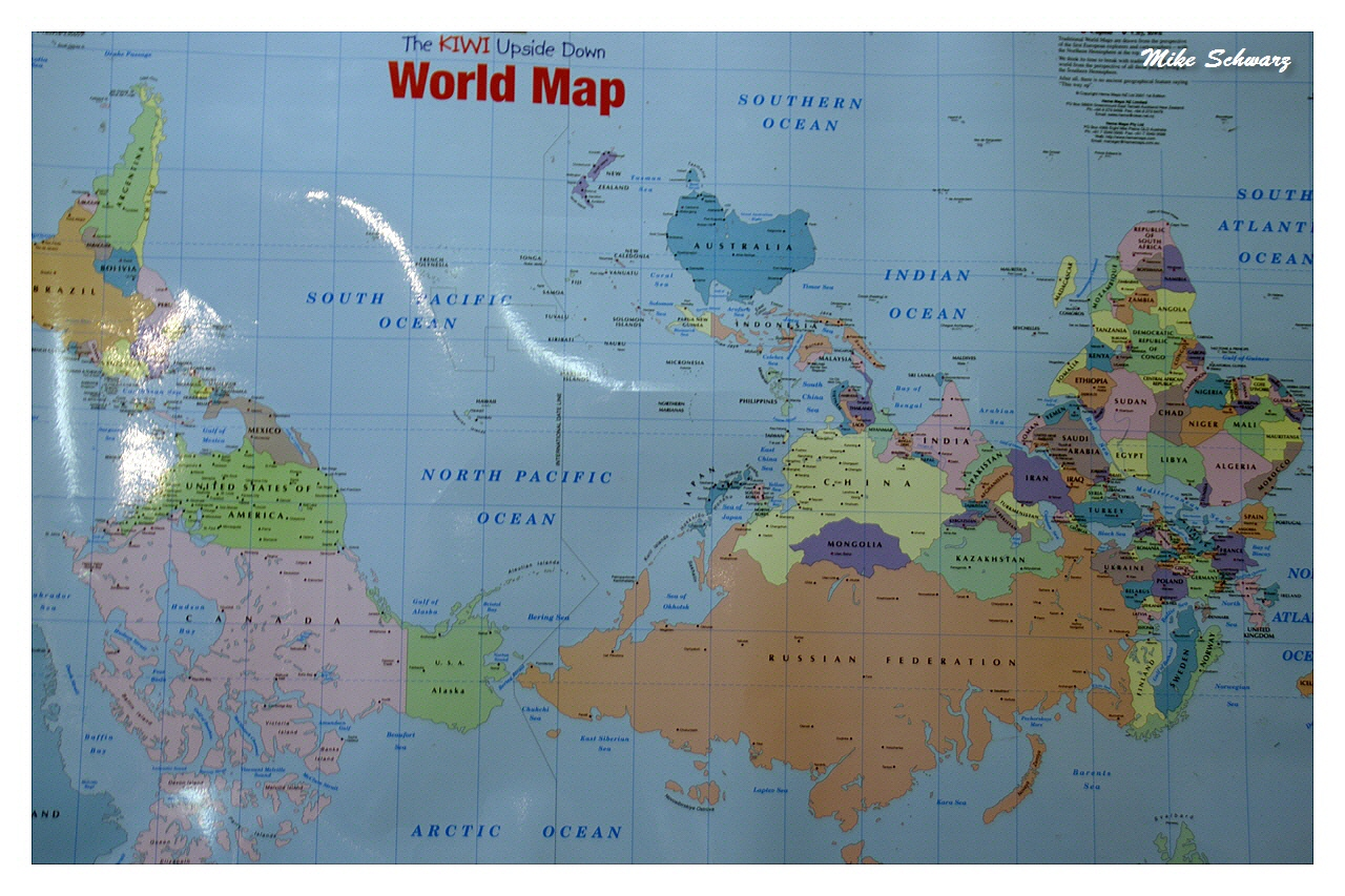 The Kiwi Upside Down World Map