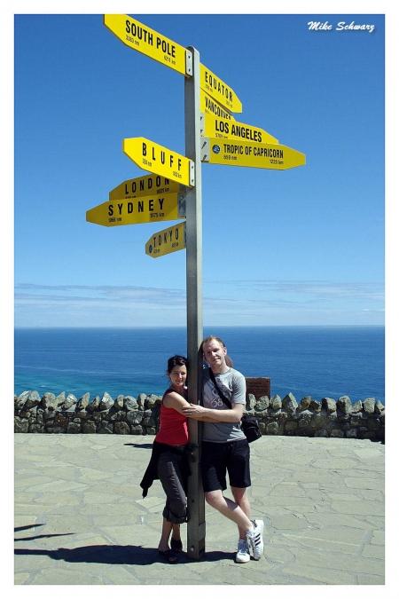 Wir zwei am Cape Reinga